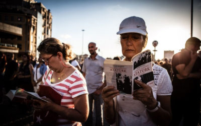 Readers in Istanbul's Taksim Square transform the space through peaceful activism
