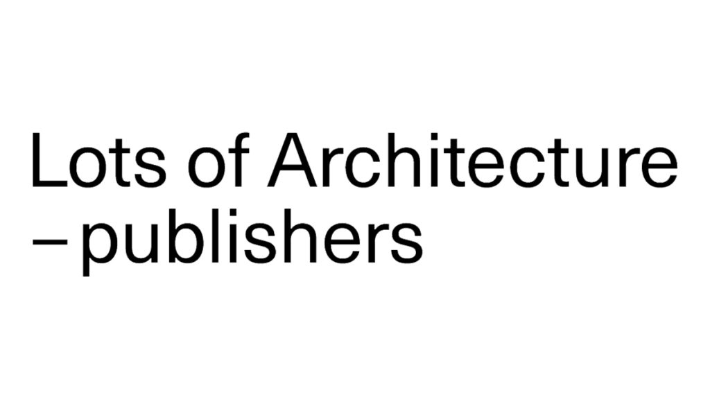 Lots of Architecture publishers